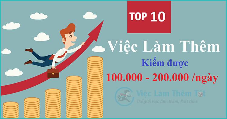 Top 10 Việc Làm Thêm Kiếm Được 100,000 Đến 200,000VNĐ/Ngày